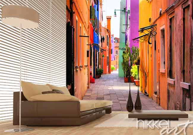 Wall Murals Narrow alley