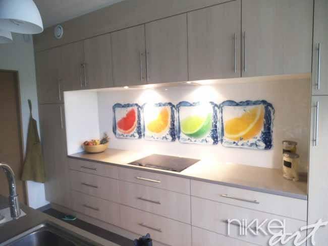 keuken foto achterwand in het ijs